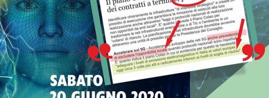 Dossier Colao, cittadini in piazza coi Sindaci Stop 5G