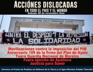 Campamento Zapatista en Defensa del Agua del Río Cuautla. Difendere l'acqua, Difendere la vita.