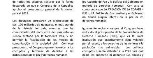 """In Guatemala un nuovo """"estallido social"""""""