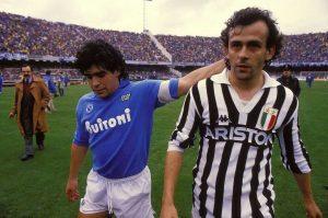 Maradona e Platini- due mondi a confronto