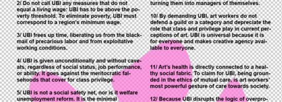 ART FOR UBI. Il manifesto in italiano