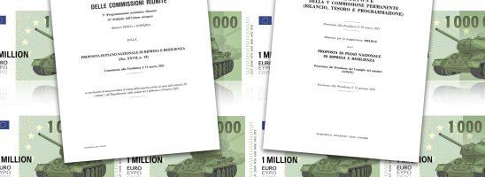 Rete Pace e Disarmo: «No a destinare i fondi del PNRR agli armamenti, il Parlamento torni sui suoi passi»