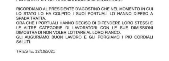 """Portuali a Trieste: """"Stop green pass o sarà blocco. La promessa dei tamponi gratis non ci ferma"""""""